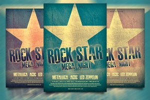 Rock Star  Flyer / Poster