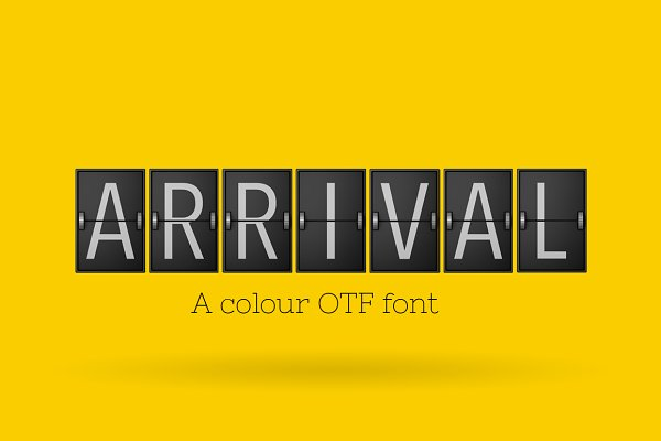 Arrival - Typeface