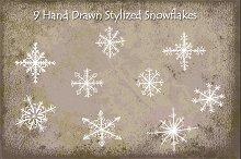 Snowflakes - Hand Drawn Stylized