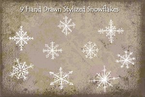 Snowflakes - Hand Drawn Stylized