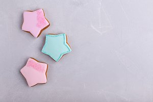 Colorful star cookies