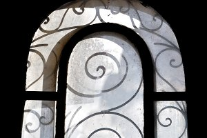 Dusty Arched Window