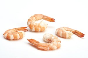 Tiger shrimp. Prawn isolated on a white background