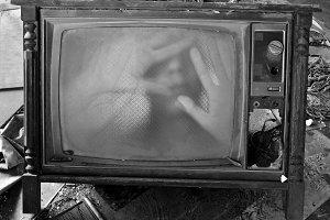 Ghostly Figure TV Set
