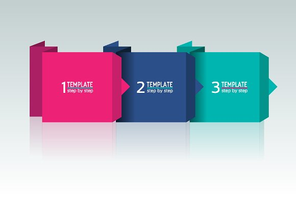 3 step chart template graphics creative market