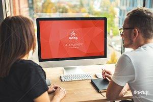 PSD Mockup iMac Business Office