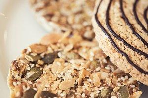 Mixed cookies closeup
