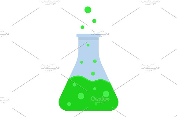 Green Boiling Potion Icon Vector