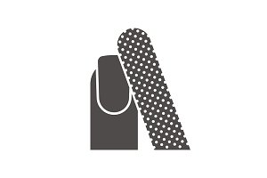 Nail filing icon. Vector