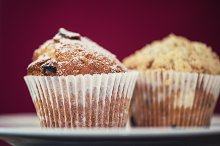 different muffins with apples