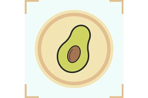 Avocado icon. Vector