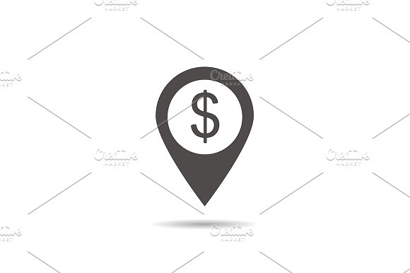 Bank Atm Location Icon Vector Icons