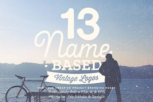 13 Name Based Vintage Logos Volume 1