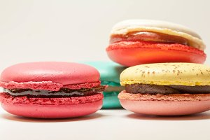 Cherry and banana macaroon