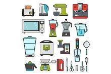 Modern equipment for kitchen