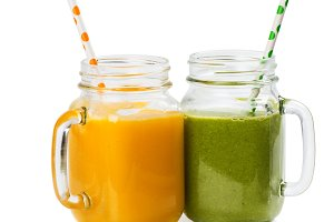 Fruity and vegetable smoothies