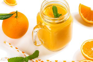 Detox orange smoothie.