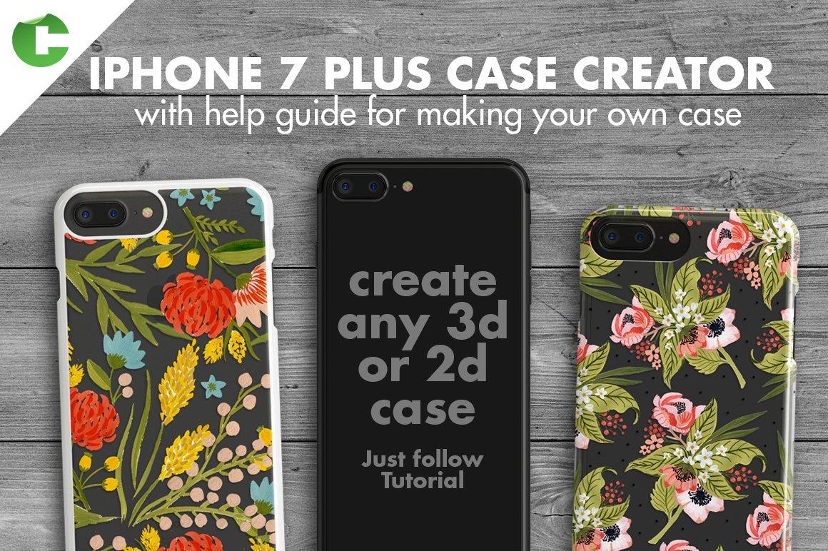 Iphone 7 plus case creator product mockups creative market baditri Choice Image