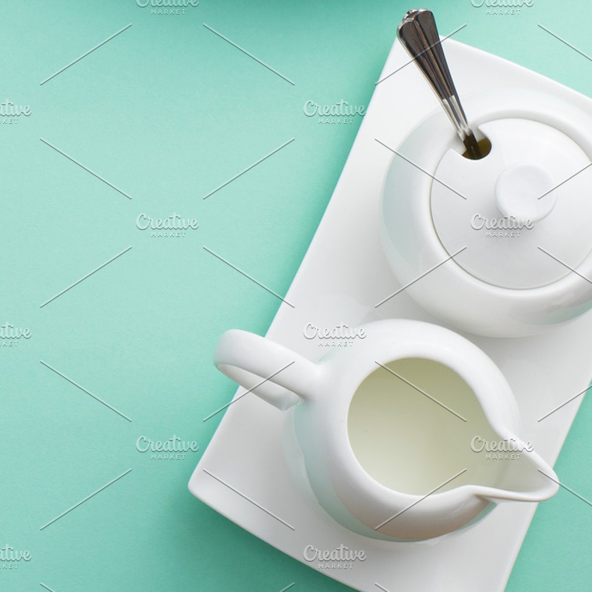 Pastel coffee service photo bundle