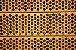 Yellow metal mesh