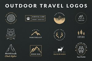Vintage Outdoor Travel Logos