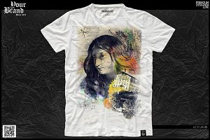 T-Shirt Graphic / Gothic & Face