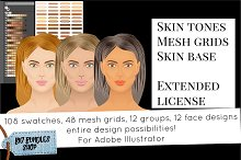 Skin tones - Adobe illustrator