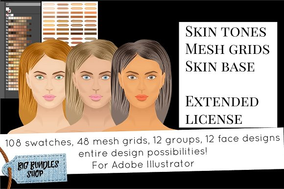 Skin Tones Adobe Illustrator