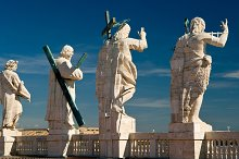 Statues on the roof of St. Peter`s