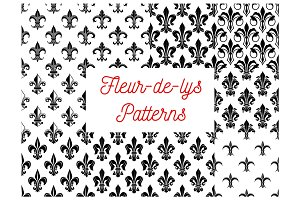 Fleur-de-lis floral seamless pattern background