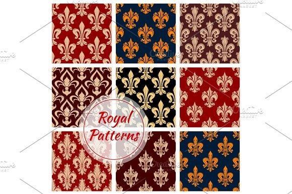 Royal Vector Seamless Patterns Set