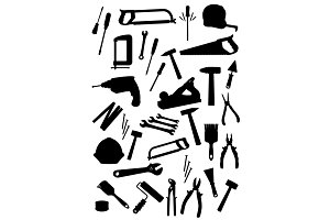 Work tools isolated vector icons set