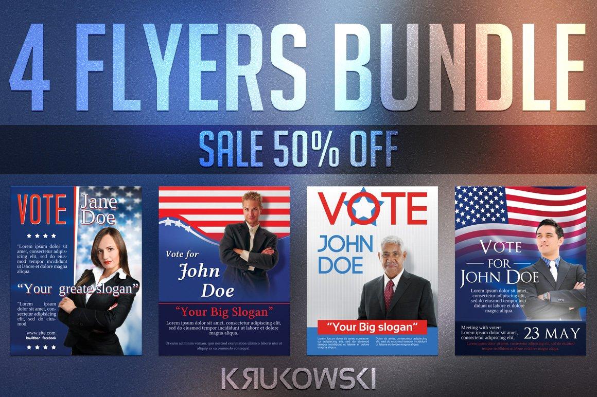 elections flyers bundle flyer templates creative market