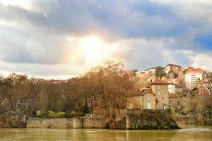Saone River and Barbe Island Lyon