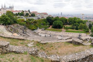 Panoramic view amphitheater Lyon