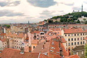 Old lyon and the hill of fourviere