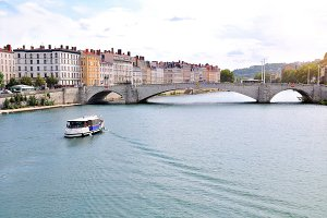 General view of Saone river Lyon