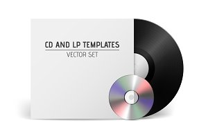 Vector CD and LP templates.