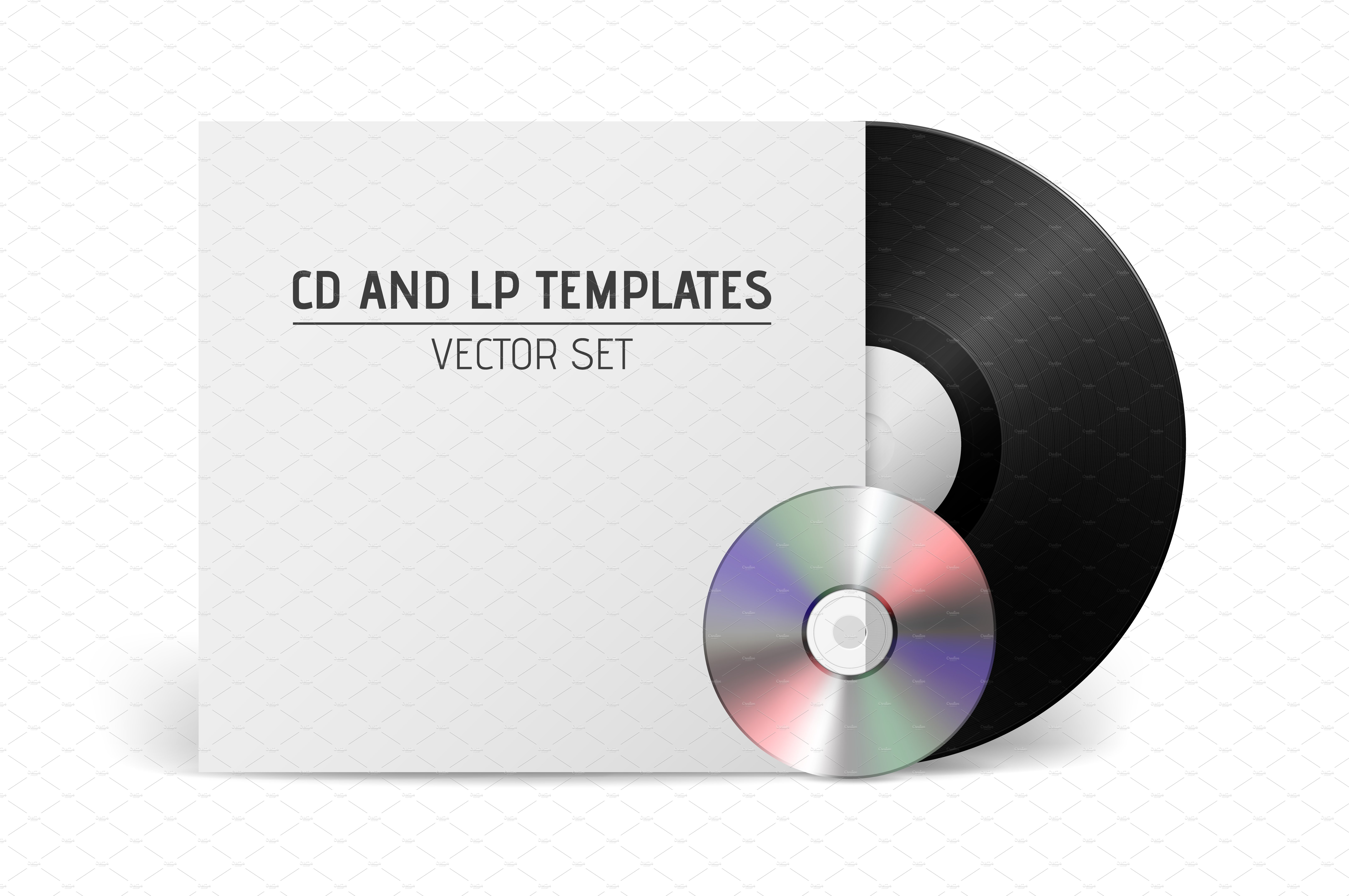 Vector Cd And Lp Templates Illustrations Creative Market