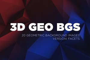 3D Geometric Backgrounds - Facets