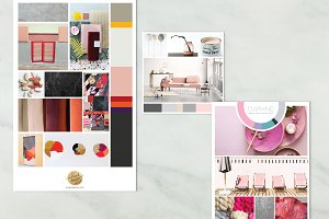 Mood Boards with color wheel