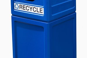 Plastic recycling container