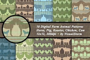 Farm Animal Patterns