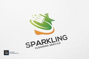 Sparkling / Cleaning - Logo Template