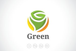 Green Rose Logo Template
