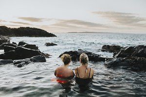 Beautiful girls in a Rock Pool