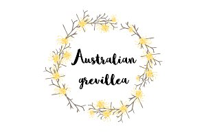Australian grevillea flower clip art