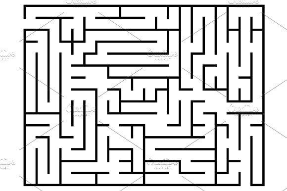Kids Riddle Maze Puzzle Labyrinth Vector Illustration