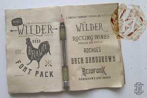 Wilder and Handdrawn Font Pack