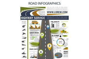 Road infographics for presentation design